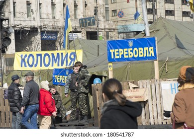 Life on the Maidan and on the barricades. Ukraine, March 07, 2014.