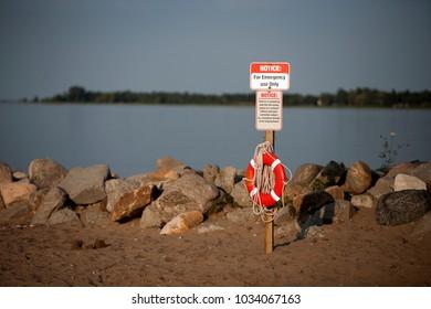 Life Preserver Saver Beach Swim Rocky Shore