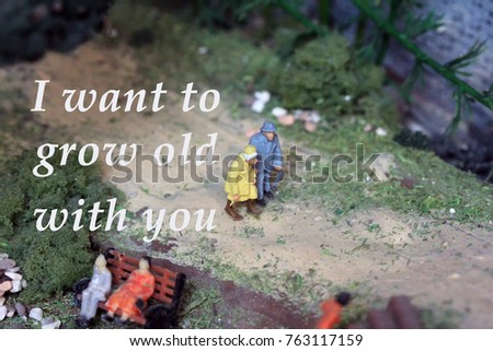 Life Quotes I Want Grow Old Stock Photo Edit Now 763117159