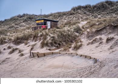 Life saving station hale towans beach cornwall uk