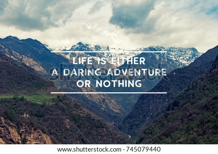 Life Travel Inspirational Quotes Life Either Stock Photo Edit Now