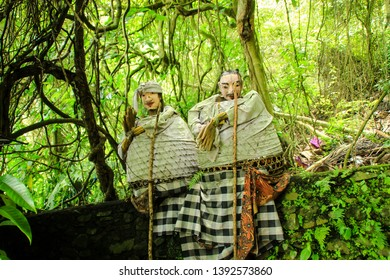 Life of Trunyan Village at Batur lake and volcano, Kintamani, Bali, Indonesia. Trunyan is one of the culturally isolated Bali Aga village in Bali