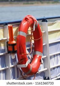 lifebelt on the ship