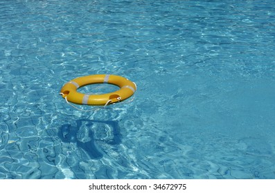 lifebelt on a swimming pool