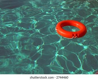life-belt in swimming-pool