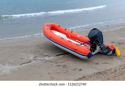 lifeboat on the beach