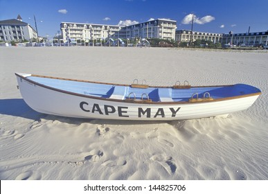 Lifeboat on Beach in the morning, Cape May, NJ