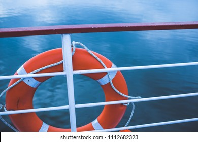 lifeboat on a boat
