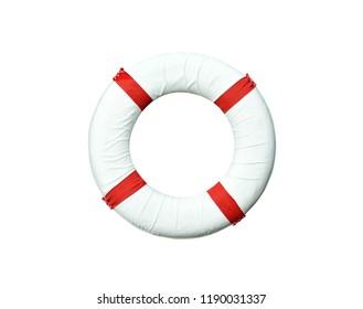 Lifebuoy isolated on white