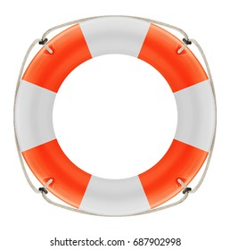 Lifebuoy isolated on a white background