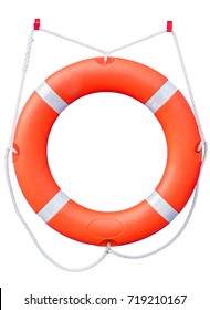 Lifebuoy isolated on white background with clipping path.