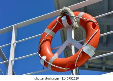 Lifebuoy on the ship