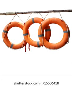 lifebuoy ring isolated on white background, this has clipping path.