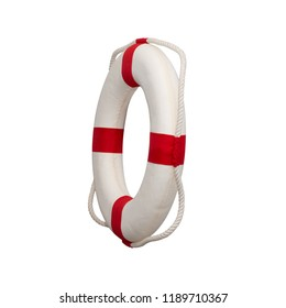 Lifebuoy ring on white back ground isolate.