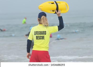 Lifeguard at the beach in California