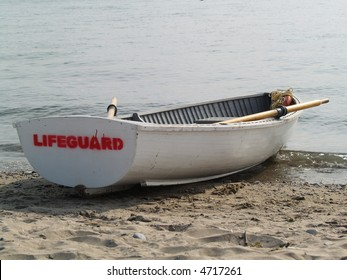 lifeguard boat on the beach