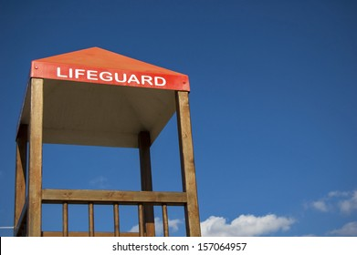 Lifeguard cabin on a beach