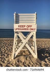 A lifeguard chair