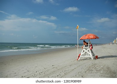 Lifeguard chair at the beach.
