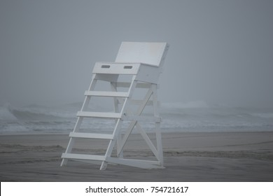 Lifeguard Chair foggy