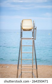 The lifeguard chair on the beach photo for you