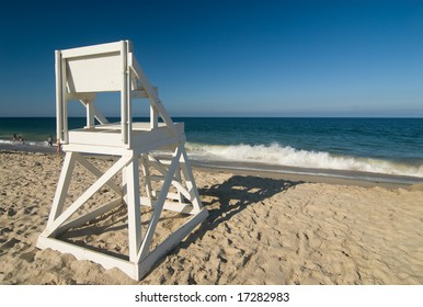 Lifeguard chair on a perfect beach