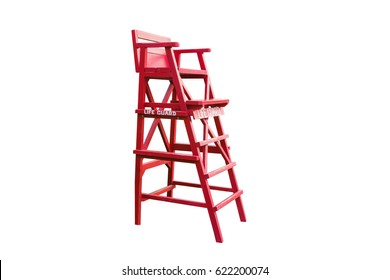 Lifeguard chair,isolated on white background with clipping path.