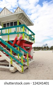 Lifeguard house in Miami Beach Florida