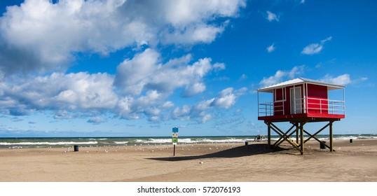 lifeguard house on beach