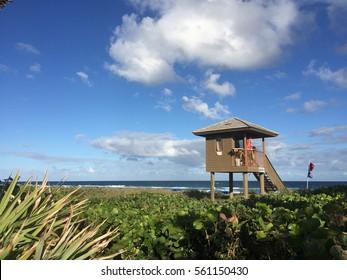 Lifeguard Hut at Delray Beach