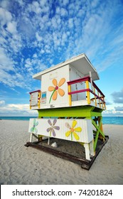 A Lifeguard Hut at Miami South Beach, FL