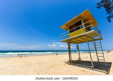 Lifeguard hut on the beach, Surfers Paradise