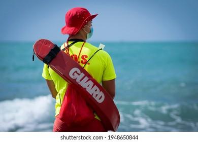 lifeguard on duty on the beach