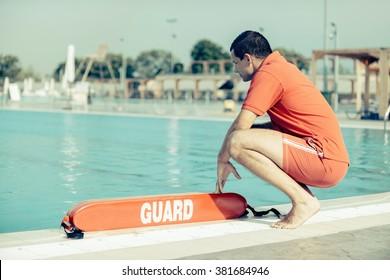 Lifeguard on duty, toned image