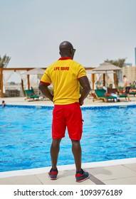 lifeguard at the pool