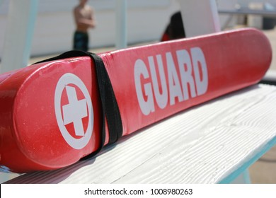 Lifeguard Rescue tube on Pool Lifeguard Stand