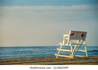 Lifeguard stand in Asbury Park, New Jersey.
