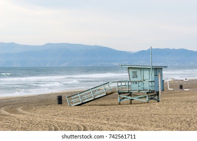 Lifeguard Stand near Manhattan Beach Pier, California
