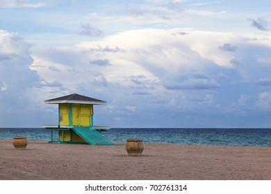 Lifeguard  Station on the Beach.