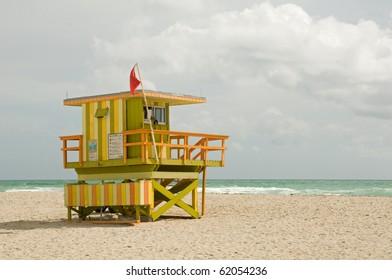 Lifeguard Station on Miami Beach.