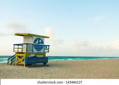 Lifeguard Station in South Beach Miami, Florida