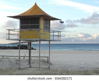 fdb3f76f55a Lifeguard tower at Coolangatta beach