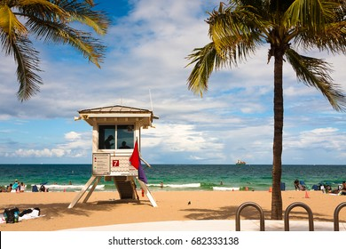 Lifeguard Tower in Cortez, Fort Lauderdale, Florida