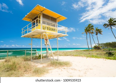 Lifeguard tower at Main Beach on the Gold Coast, Queensland, Australia.