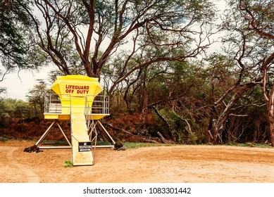 A Lifeguard Tower On Big Beach At Makena State Park On The Island Of Maui