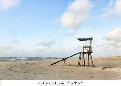 Lifeguard Tower in Port Aransas Texas at the start of a summer morning