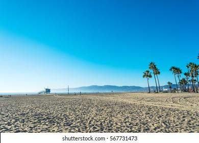 Lifeguard tower in Santa Monica, California