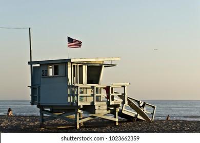 Lifeguard Tower in Santa Monica, LA