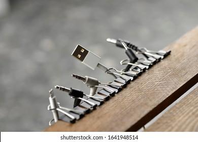 Lifehack; DIY cord and cable organizer.
