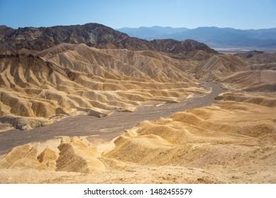 Lifeless Valley Golden Death Valley Canyon